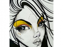 Star. Drawing on paper by BunnyBone in Nyaman Gallery Bali