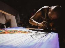 vgeny Bam Live Painting at Nyaman Gallery