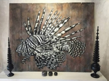 LIONFISH on Recycled Wood