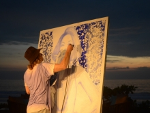 YOKII at WARNA SENJA live painting