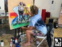 YOKII at work in his studio
