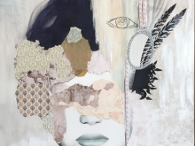 Pealing off Layers - Finfing the Inner. Mixed Media by Irene Hoff