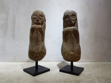 <strong>Sulawesi Lime Stone Bride and Groom Sculptures with stands</strong>