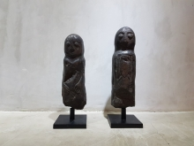 <strong>Sulawesi Black Lime Stone Couple Sculptures</strong>