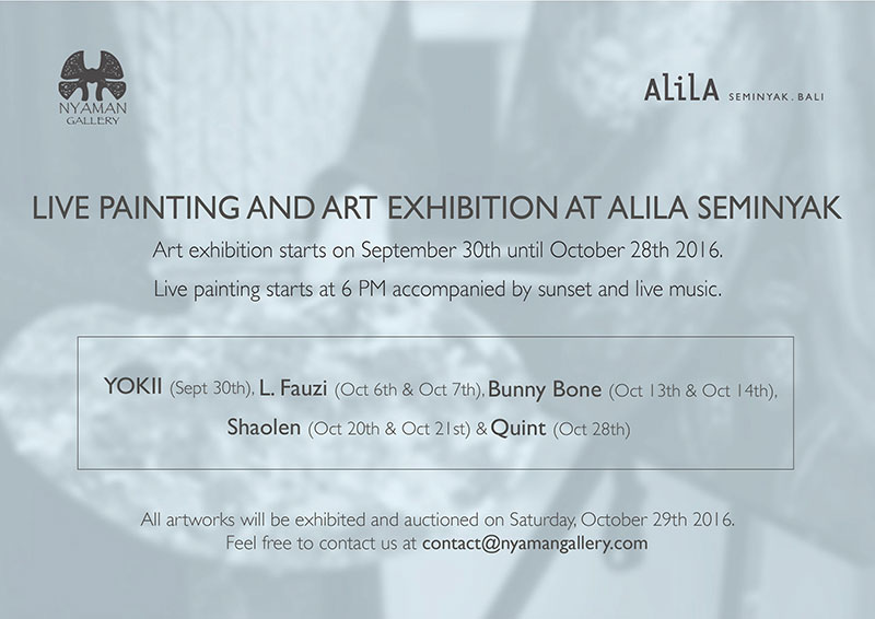 Live Painting and Art Exhibition at Alila Seminyak